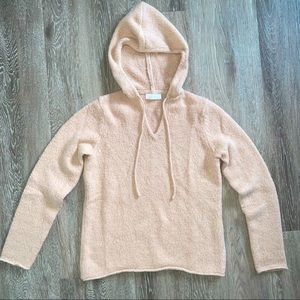 🌸 OAK + FORT Fuzzy Pull Over Sweater with Hood